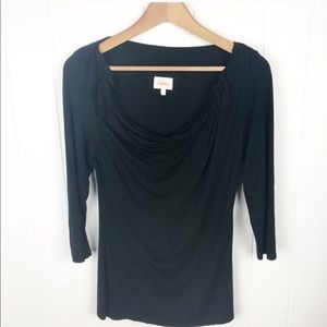 Anthropologie Deletta•Black cowl neck t shirt